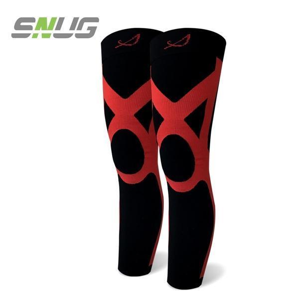 SNUG-運動壓縮全腿套-深紅色-(一雙)
