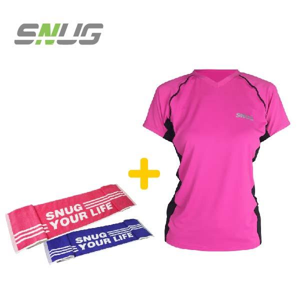 SNUG-女版運動上衣+運動毛巾