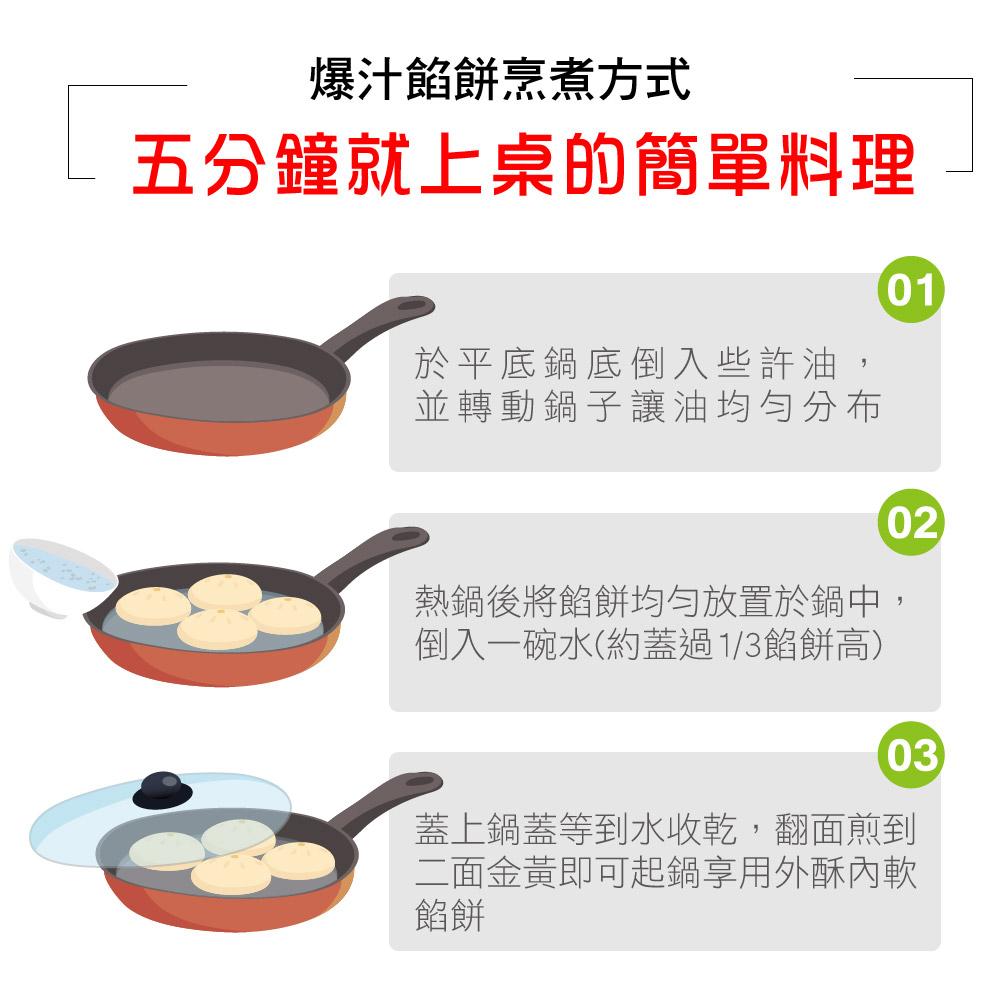 爆汁餡餅烹  煮方式 五分鐘就上桌的簡單料理