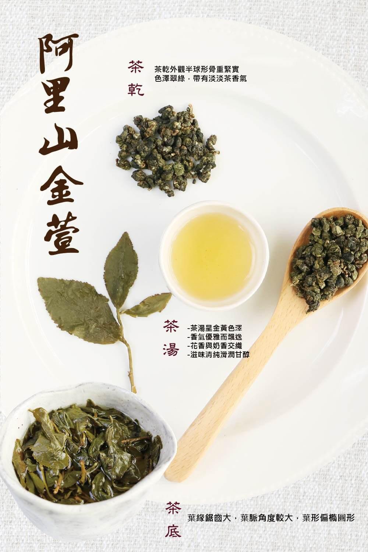 阿里山金萱茶 茶湯 茶葉 茶底